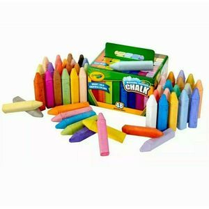 Crayola Kids Sidewalk Chalk 48 Bright Colors